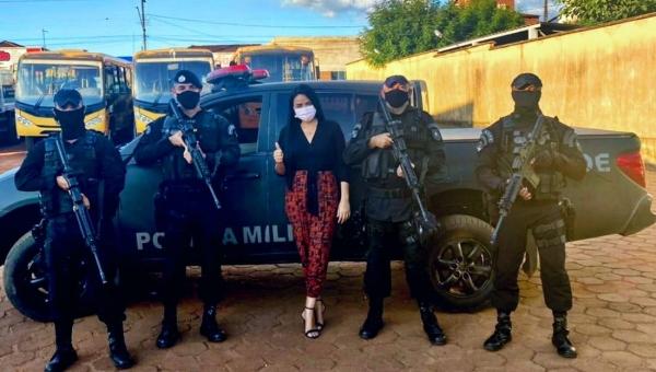 Primeira Dama de Wanderlândia recebe políciais da COE e debate segurança do Município