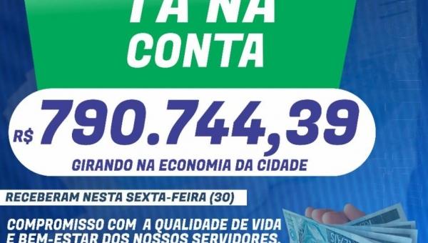 Wanderlândia   Prefeito paga Salários antecipadamente e coloca quase 800 mil em circulação